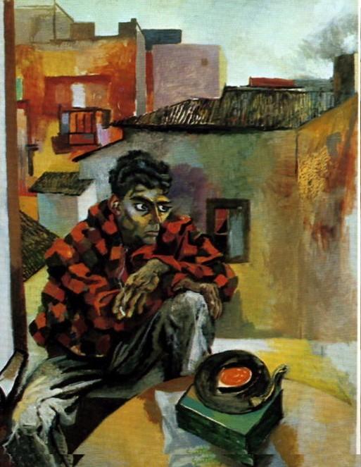 Renato Guttuso. Rocco con el Tocadiscos. (189 X 153 cm)