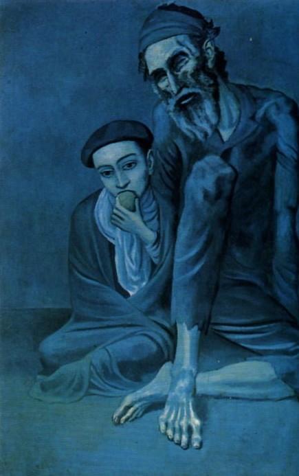 Pablo Picasso. El judio pobre con el niño. (125 x 92 cm)